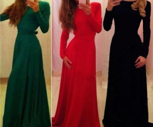 Women Formal Prom Party Bridesmaid Evening Long Maxi Ball Dress